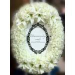 พวงมาลาถวายความอาลัยสีขาว ดอกไม้ประดิษฐ์2