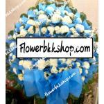 พวงหรีดดอกไม้สด รหัส WWR14