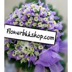 พวงหรีดดอกไม้สด รหัส WWR22