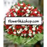 พวงหรีดดอกไม้สด รหัส WWR02
