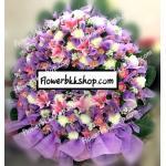 พวงหรีดดอกไม้สด รหัส WWR19