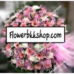 พวงหรีดดอกไม้สด รหัส WWR08