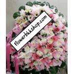 พวงหรีดดอกไม้สด รหัส WWR21