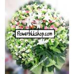 พวงหรีดดอกไม้สด รหัส WWR11