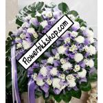พวงหรีดดอกไม้สด รหัส WWR09