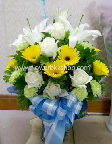 แจกันดอกไม้สด รหัส WVA01