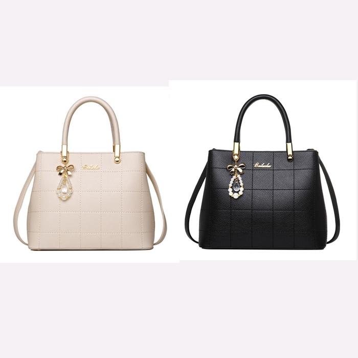 พร้อมส่ง กระเป๋าถือ กระเป๋าสะพายข้าง แบรนด์Beibaobao รุ่น B40908 (สีดำ,สีขาว)