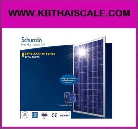 แผงโซล่าเซลล์ Schutten Solar Cell Poly-crystalline module 130W มาตราฐาน TUV IEC CE รับประกันแผงโซล่าเซลล์ อายุการใช้งานนาน 25 ปี