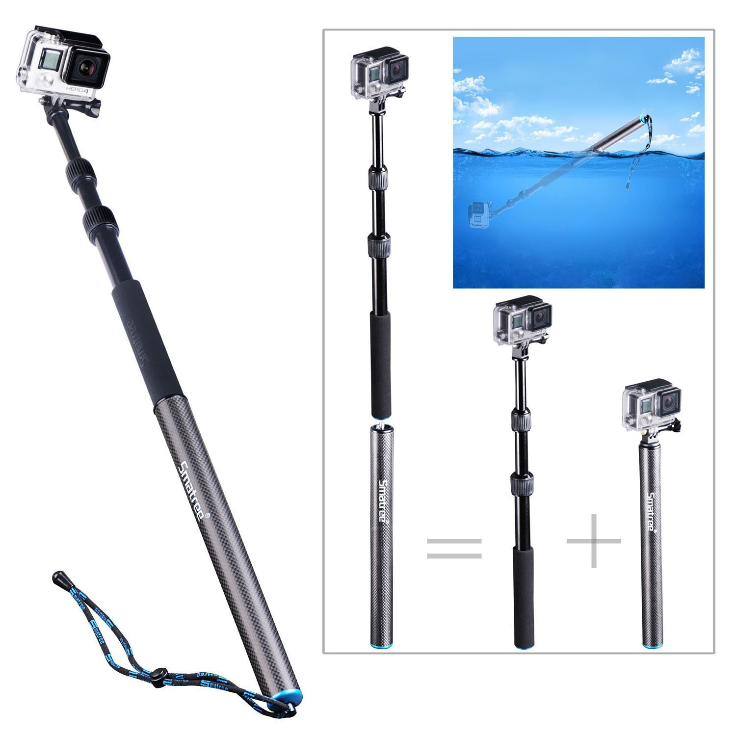 "Smatree - SmaPole S3(24""-40"")- A Floating Pole"