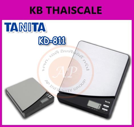 ตาชั่งดิจิตอล เครื่องชั่งดิจิตอล เครื่องชั่งแบบตั้งโต๊ะ รุ่น KD-811 ยี่ห้อ TANITA พิกัดน้ำหนัก 5kg ค่าละเอียด 1g