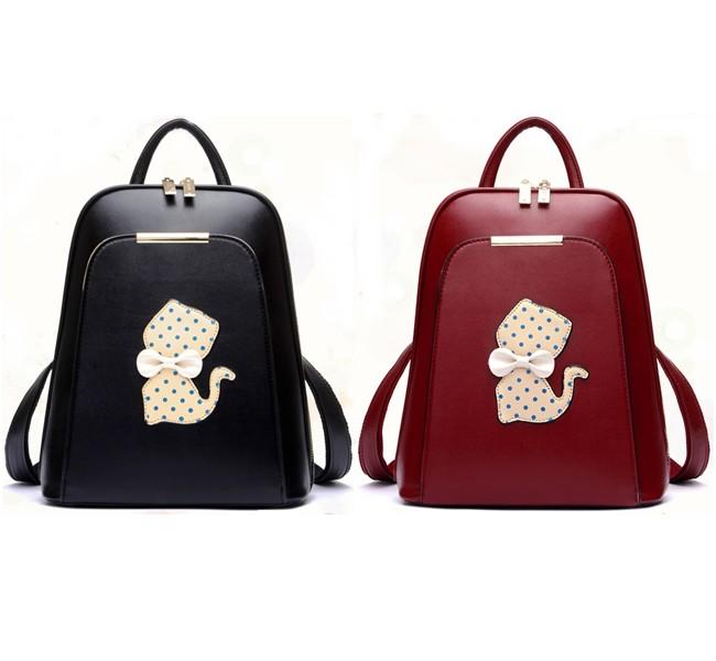 พร้อมส่ง กระเป๋าเป้ กระเป๋าสะพายหลัง แบรนด์Beibaobao รุ่น B142 (สีดำ สีแดง)