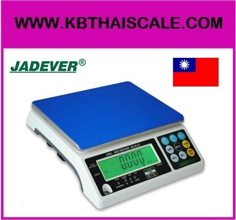 ตาชั่งดิจิตอล เครื่องชั่งดิจิตอล เครื่องชั่งแบบตั้งโต๊ะ 6kg ความละเอียด0.5g แท่น294x228cm. ยี่ห้อ JADEVER รุ่น JWL II-6K