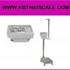 ตาชั่งน้ำหนักคน เครื่องชั่งน้ำหนักบุคคล เครื่องชั่งดิจิตอลพร้อมชุดวัดส่วนสูงพร้อม BMI คำนวณค่าดัชนีมวลกาย พิกัดกำลัง200kg ละเอียด 0.1kg และชุดวัดส่วนสูง 80-200cm NAGATA BW-120HT