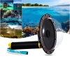 "Gopro Hero 3+ 4 Black TELESIN 6"" Underwater Dome Port Diving Lens"