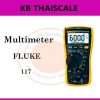 ดิจิตอลมัลติมิเตอร์ สำหรับช่างเทคนิคงานบริการด้านไฟฟ้า Fluke 117มัลติมิเตอร์ที่ให้ค่า True-rms ขนาดกะทัดรัด
