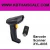 Barcode Scanner XYL-8035 เครื่องอ่านบาร์โค้ดไร้สาย รับส่งข้อมูลได้ถึง 20 เมตร อ่านบาร์โค้ดแบบยาว และ ไม่ชัดได้ดี เหมาะสำหรับงานเคาเตอร์เซอร์วิช รับชำระค่าน้ำ ค่าไฟ ค่าบัตรเครดิตต่าง ๆ ได้เป็นอย่าง