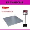 เครื่องชั่งปริ้นน้ำหนัก ตาชั่งพิมพ์น้ำหนัก เครื่องชั่งดิจิตอลปริ้นได้ เครื่องชั่งพร้อมพิมพ์ 2000kg ค่าละเอียด 200g Tiger รุ่น TI-02P-1515 ขนาดแท่น 150*150cm.