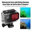Telesin Red Lens Filter for GoPro Hero 5 6 waterproof housing without taking out Lens For Telesin Case ใส่กับเคส Telesin ทีไม่ต้องถอดหน้าเลนส์