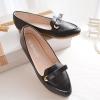รองเท้า ลายหนังจระเข้ สีดำ รหัส MM097 (พรีออเดอร์)