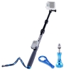 Smatree SmaPole S2 All-aluminum Alloy Telescopic Pole for GoPro Hero 6/5/4/3+/3/2/1/Session (WiFi Remote Controller is NOT Included)