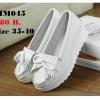 รองเท้าพยาบาล หนังสีขาว รหัสMM045 (พรีออเดอร์)