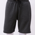 กางเกงกีฬาขาสั้นเอวยืด สีเทามืด Size M