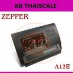 อะไหล่เครื่องชั่ง หน้าจอเครื่องชั่ง Indicator อินดิเคเตอร์ราคาประหยัด สีดำ backlight ตัวเลข LED สีเเดง เรืองแสง รุ่น A12E ยี่ห้อ ZEPPER