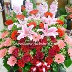 กระเช้าดอกไม้สด รหัส WBA05