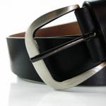 Vintage Correction Set-ฺBlack เข็มขัดหนังแท้สไตล์วินเทจ สีดำ 1'' 1/2''