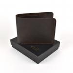 OW-873 ของขวัญวันเกิด กระเป๋าสตางค์ผู้ชาย หนังแท้ ใบสั้น สีน้ำตาล