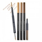 {พร้อมส่ง} Etude eyebrow contouring multi pencil #สี1 ดินสอเขียนคิ้วแบบ 3 in 1 ที่รวมดินสอเขียนคิ้ว+มาสคาร่าปัดคิ้ว+ไฮไลท์เนื้อครีมในแท่งเดียว