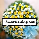 พวงหรีดดอกไม้สด รหัส WWR01