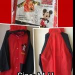 เสื้อกันฝนมิคกี้เม้าส์ ลิขสิทธแท้ ผ้า PVC แบบนิ่ม แพค 6 ชุด มี 2 size M/L