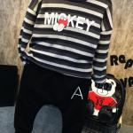ชุดเซทเสื้อแขนยาว Micky+กางเกง แพค 5 ชุด ขนาด 100-140