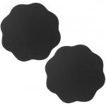 ซิลิโคนปิดจุกแบบผ้าทรงดอกไม้สีดำ