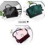 พร้อมส่ง กระเป๋าถือ กระเป๋าสะพายข้าง แบรนด์Beibaobao รุ่น B62710 (สีดำ สีชมพู สีเขียว)