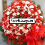พวงหรีดดอกไม้สด รหัส WWR26