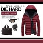 เสื้อกันหนาว DIEHARD : (แดงไวล์-ดำ) -15c เอาอยู่ รุ่นนี้พี่ตายยาก