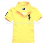 เสื้อยืดPolo สีเหลืองอ่อน แพค 4 ตัว ขนาดเด็ก 5-9 ปี