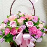 กระเช้าดอกไม้สด รหัส WBA11
