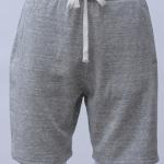 กางเกงกีฬาขาสั้นเอวยืด สีเทาอ่อน