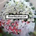 พวงหรีดดอกไม้สด รหัส WWR18