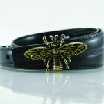 Dragonfly collection เข็มขัดผู้หญิงหนังแท้ - สีดำ
