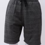 กางเกงกีฬาขาสั้นเอวยืด สีเทามืดลายกระ Size M