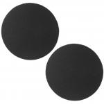 ซิลิโคนปิดจุกแบบผ้าทรงกลมสีดำ