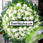 พวงหรีดดอกไม้สด รหัส WWR12