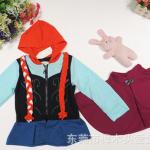 เสื้อกันหนาวเปียแอนนาเปีย+ผ้าคลุมไหล่ แพค 5 ตัว ขนาด 100-140 *พร้อมส่ง*