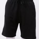 กางเกงกีฬาขาสั้นเอวยืด สีดำ Size M