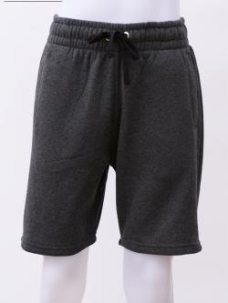 กางเกงกีฬาขาสั้นเอวยืด สีเทามืด