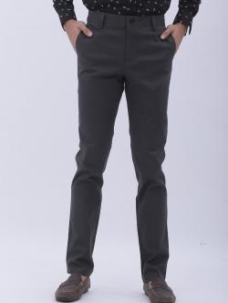 กระบอกเล็ก-ผ้ายืด สีเทามืด- Dark Gray